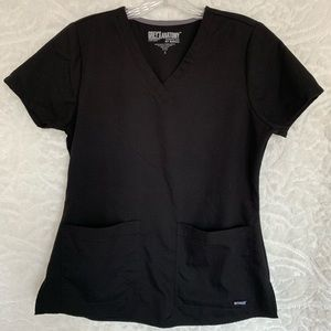 Black greys anatomy scrub top, size small